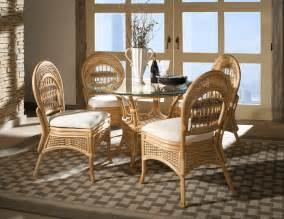 Wicker Dining Room Set Rattan Dining Set Tropical Tropical Furniture
