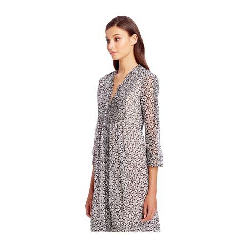 Layla Tunic 1 diane furstenberg dvf layla chiffon tunic dress in gray lyst