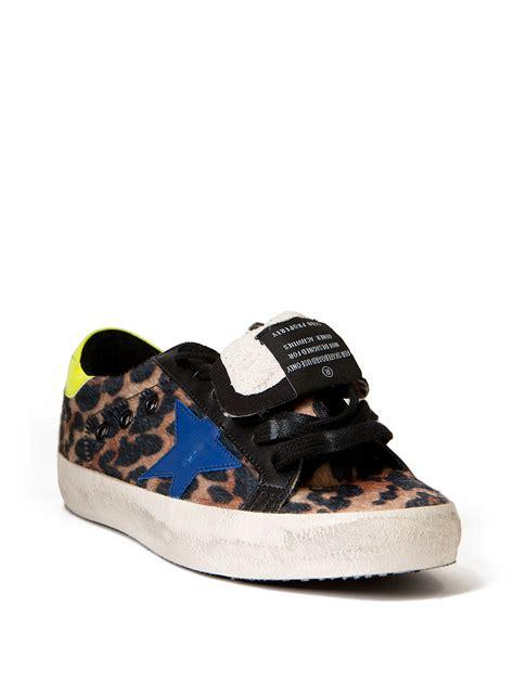 leopard sneakers golden goose deluxe brand superstar leopard sneakers lyst