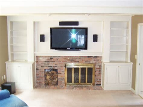 Modern Farmhouse Living Room by Custom Made Entertainment Center Around Fireplace By