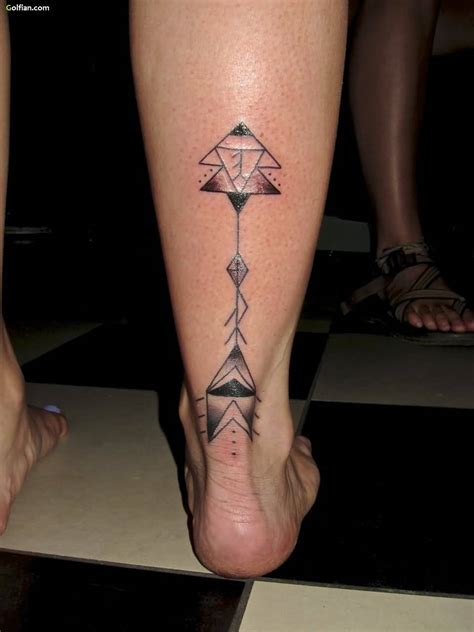 back of the leg tattoos 50 most beautiful arrow leg tattoos awesome arrow foot