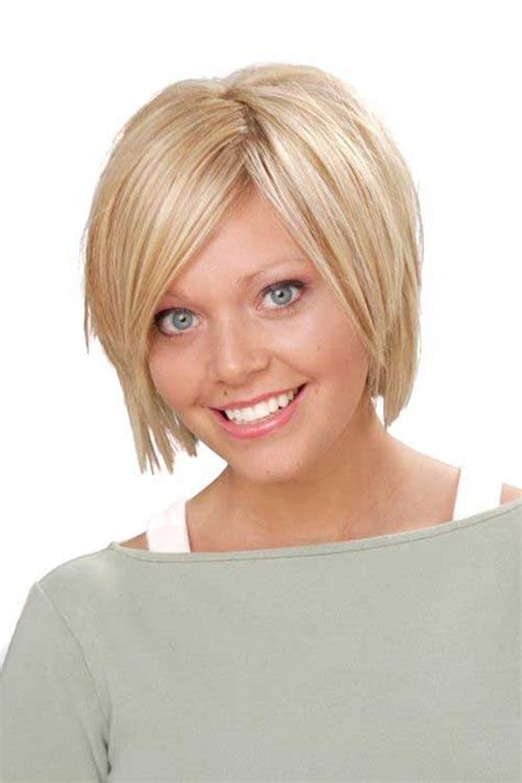 short blonde haircuts round face 10 cute short hairstyles for round faces short
