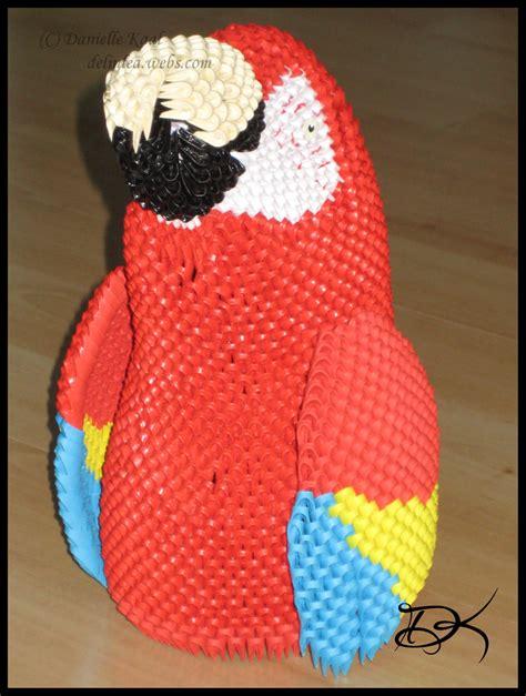 3d Origami Macaw - macaw album danielle 3d origami