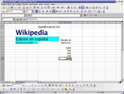 Open Office Spreadsheet by Openoffice Org Calc