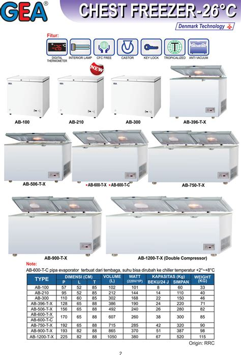 Mesin Chest Freezer chest freezer 26 186 c tokomesin id