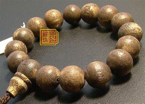 Agarwood Bead tibetan handmade 14mm tiger agarwood mala bracelet wishbop