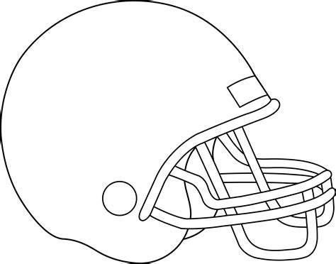 blank football helmet for coloring free clip art