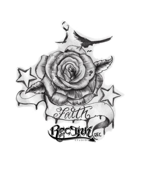 rec faith roses tattoo rose by txrec on deviantart