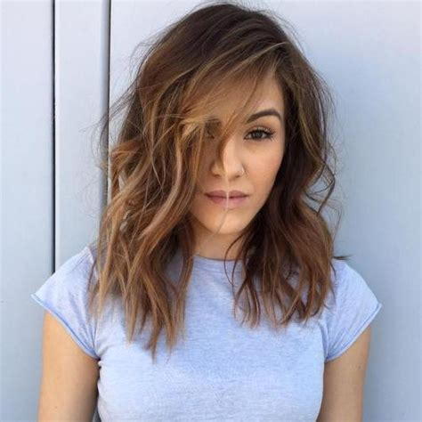 hair stlyes with side parting oval face small forehead 60 super chic hairstyles for long faces to break up the length
