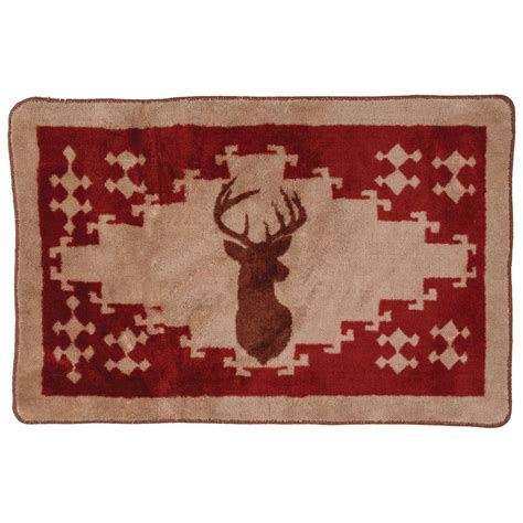 deer bathroom rugs deer kitchen bath rug