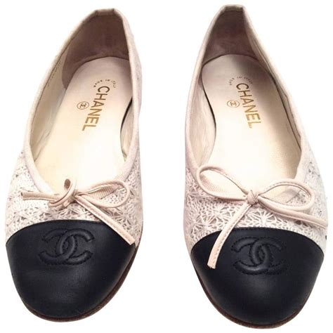 Fashion Shoes By Chanel chanel ballerina flats size 38 at 1stdibs