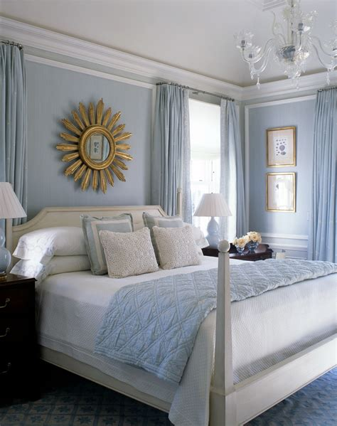pale blue bedroom a blue and white beach house by phoebe and jim howard