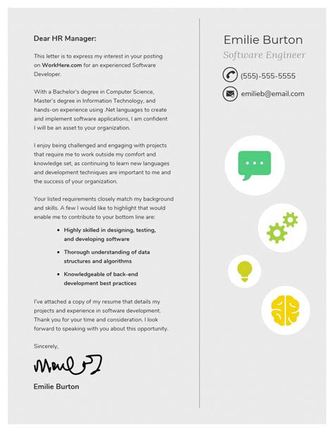 10 Cover Letter Templates And Expert Design Tips To Impress Employers Venngage Cover Letter Template