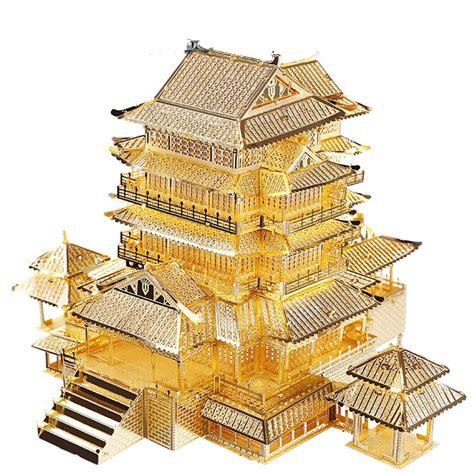 aliexpress buy diy mini 3d metallic nano puzzle ancient architecture pavilion of