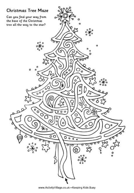 printable christmas tree maze christmas tree maze