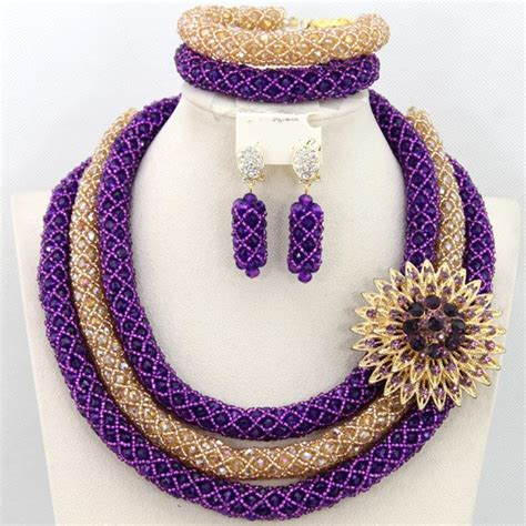 2015 LATEST AFRICAN NIGERIAN WEDDING PARTY BEADS NECKLACE SET   African Nigerian Wedding Beads
