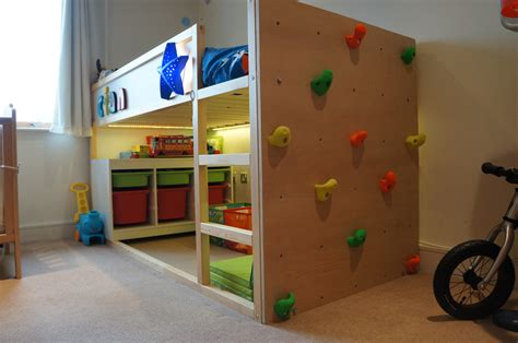 hacking ideas kura bed with climbing wall