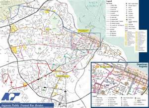 map of augusta and surrounding area transportation in richmond county
