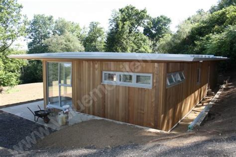 mobile home brighton cedar clad flat roof lodge
