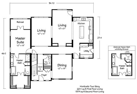 monticello second floor plan monticello floor plan american dream modular homes