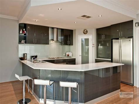 modern u shaped kitchen designs modern u shaped kitchen design using hardwood kitchen