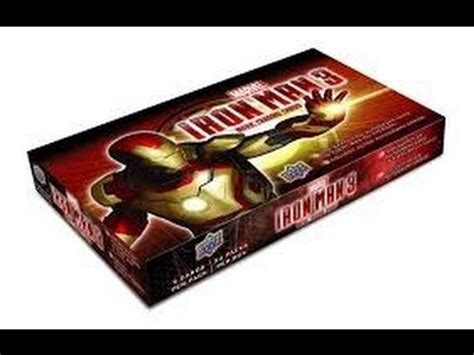 iron man trading cards box break youtube