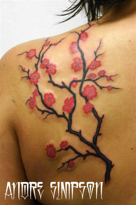 33 pretty cherry blossom tattoos and designs