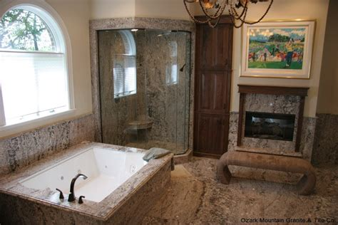granite countertops in bathroom gallery work ozark mountain granite co