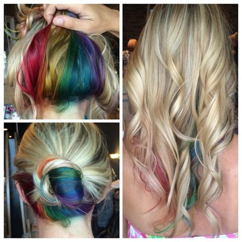 peek a boo hair color ideas rainbow hair peekaboo hair colors ideas