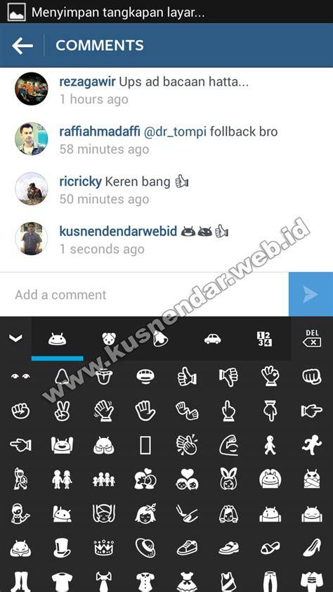 bagaimana membuat emoticon instagram cara memasukkan emoticon smiley di instagram android