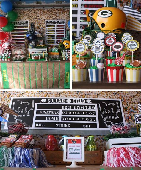 decorations for sports themed kara s ideas sports planning ideas supplies