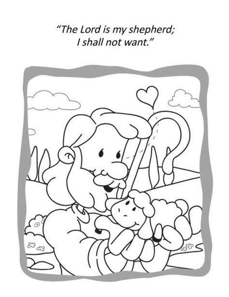 free psalm 23 1 coloring pages
