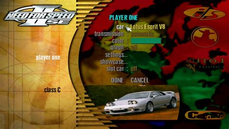need for speed 2 se apk need for speed ii se menu tour