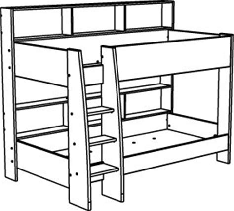 Bunk Bed Drawing White Bunk Bed For Children In S A