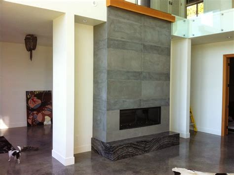 Concrete Fireplace by Mode Concrete Concrete Fireplace Tiles Are