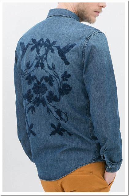 Embroidery Denim Shirt zara denim shirt with embroidery on back denim