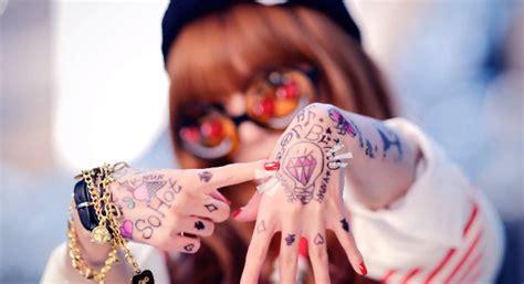 hyuna tattoo ice cream kiss kiss kpop reviews review hyuna feat psy ice cream