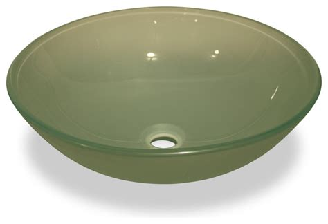 green glass bathroom sink frosted green glass vessel sink no overflow valve