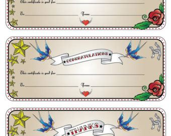 tattoo gift card certificate template recommendation letter template