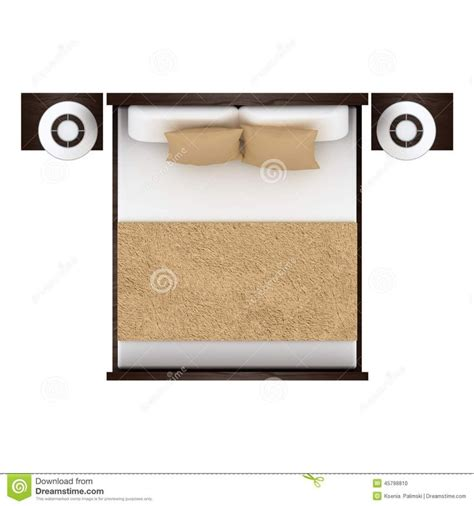 bed top view bed top view isolated white background 45798810 jpg 1300