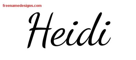tattoo name heidi heidi archives page 2 of 2 free name designs