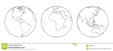 The Globe Outline by Globes Outline Stock Vector Image 39391752