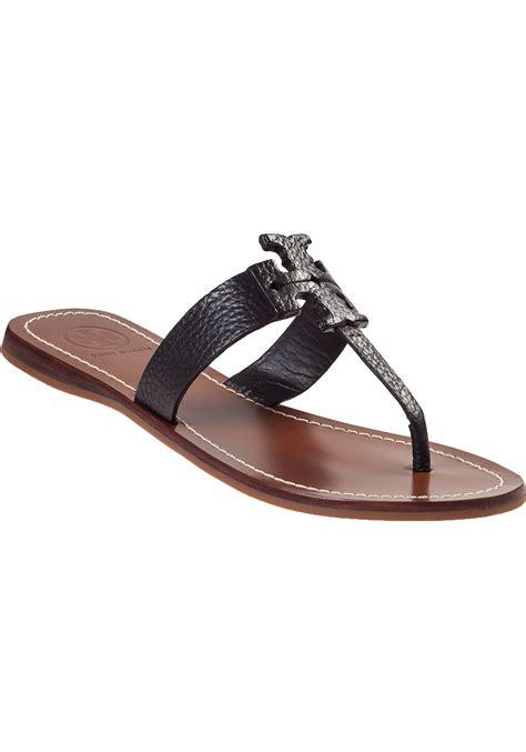 burch black sandals burch sandal black leather in black lyst