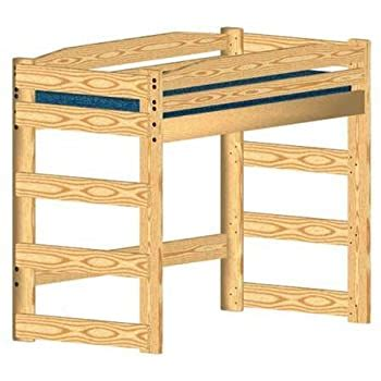 loft bed diy woodworking plan  build   twin size