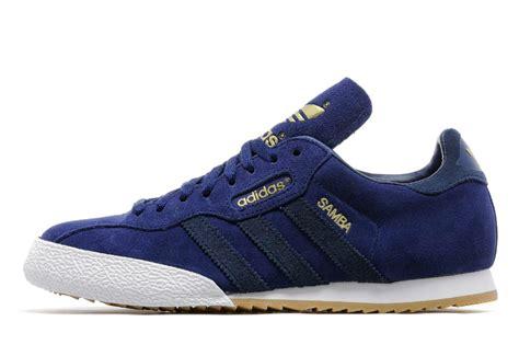 adidas samba super blue white