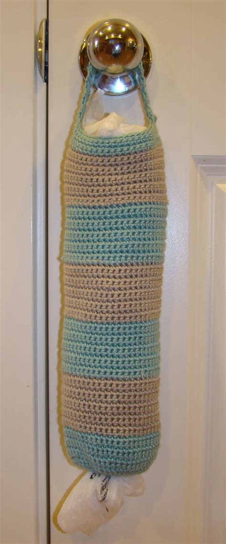 crochet pattern for grocery bag dispenser crafts by starlight striped grocery bag holder crochet