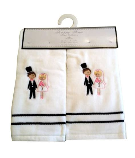 Bridal Shower Gift From Of Groom by And Groom Embroidered Towels Wedding Shower