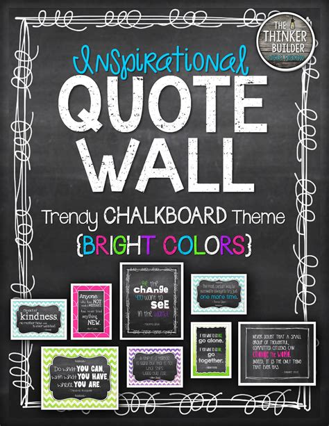 trendy blue neon chalkboard birthday inspirational quote wall trendy chalkboard theme bright colors grades 3 6 wall quotes