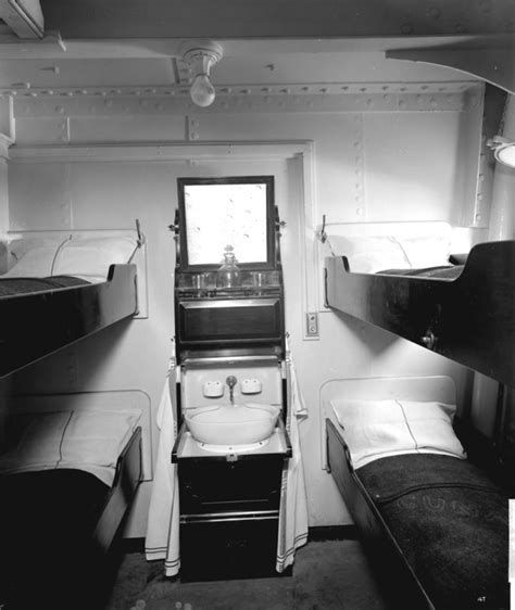 Titanic 3rd Class Cabins by Third Class Cabin On The Aquitania 1914 Bedford Lemere Co Royal Museums Greenwich Prints