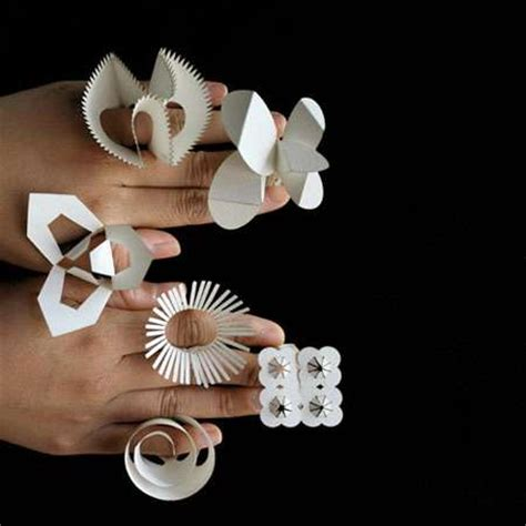 How To Make Jewellery Out Of Paper - pop out paper jewelry diy folding floral rings for every